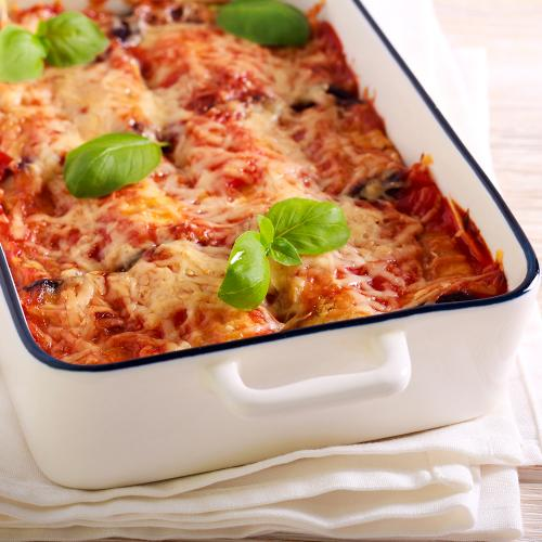 Lasagne with minced veal and zucchini