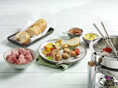 Fondue with veal