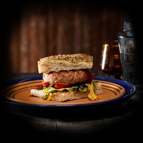 Veal burger rosemary