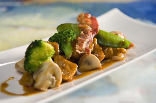 Gestoofd kalfsvlees met champignons