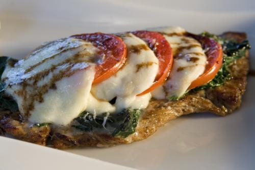 Kalbsschnitzel mit Mozzarella