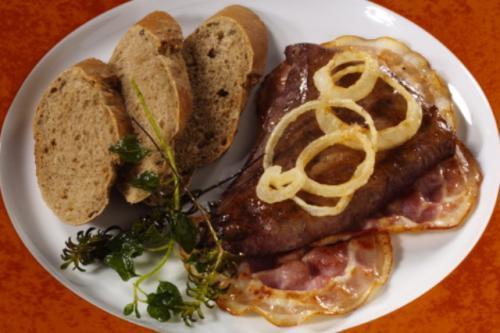 Kalbsleber mit Frühstücksspeck