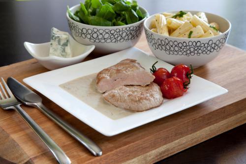 Schnitzel, marsala en gorgonzola