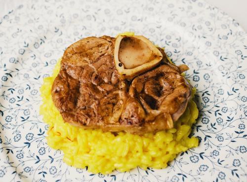 Ossobuco con risotto allo zafferano